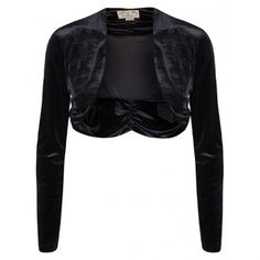 Lindy Bop Sumptuously Luxurious Black Velvet Ruched Shrug - Personal Styling - Goth - Look 6