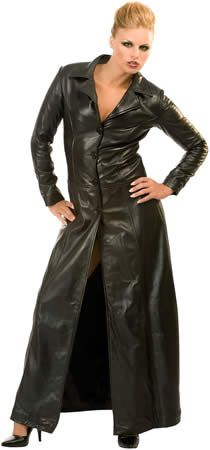 Long leather coat | Women's Style & Fashion that appeals to me ...