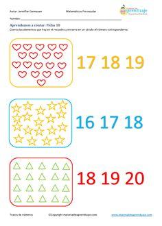 Aprender a contar: Ficha 10