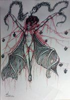 Lilith with black and red pen by Adriana10