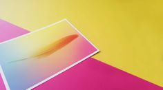 gradient feather postcard by mo man tai