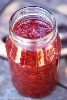 Clean Eating Strawberry Chia Seed Spread