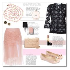 """""""Tulle in romantic pink"""" by psyche8778 ❤ liked on Polyvore featuring Burberry, Fendi, Chanel, Monsoon and Vince Camuto"""