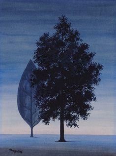 René Magritte -La Clairvoyance ,1962