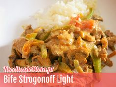 Bife Strogonoff Light #receita #dieta #light #fitness