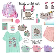 """""""#PVxPusheen"""" by deepwinter ❤ liked on Polyvore featuring Pusheen, claire's, Paperchase, Maybelline, Alessandro International, contestentry and PVxPusheen"""