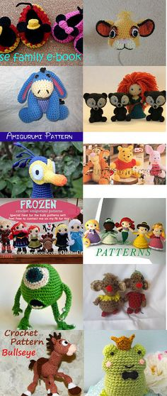 Disney-Inspired Crochet by Noelle Lewis on Etsy--Pinned with TreasuryPin.com