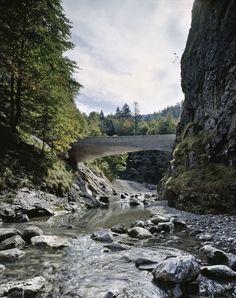 Schanerloch gorge bridge by Marte.Marte Architekten ZT GmbH.  Near Dornbirn, Austria