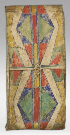 Crow Parfleche Envelope, 19th century      Like the Gee's Bend Quilts these deserve a show at the Whitney