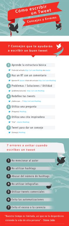 Cómo escribir un Tweet;  Consejos y errores básicos Marketing En Internet, Seo Marketing, Marketing Digital, Online Marketing, Social Media Marketing, Affiliate Marketing, Social Media Company, Social Media Tips, Social Networks