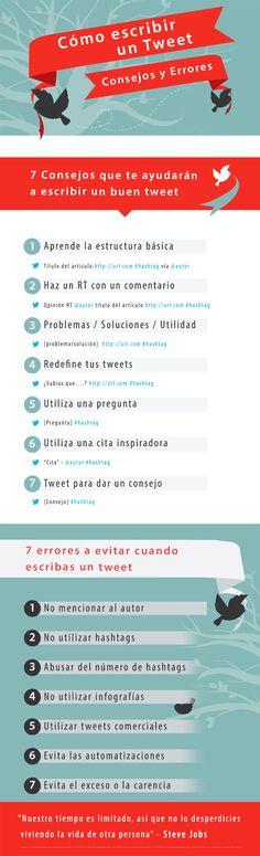 Cómo escribir un tweet: consejos y errores #infografia #infographic #socialmedia vía: http://www.marketingandweb.es/marketing/como-escribir-un-tweet-consejos-errores/