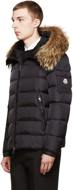 moncler byron coat black