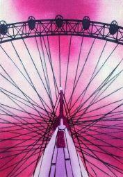 London Eye in a Fuchsia Sky / Curious Duke Gallery