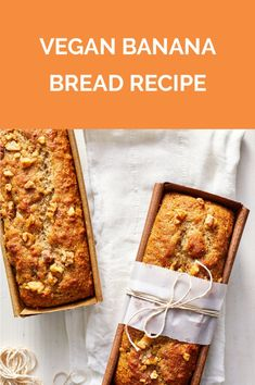 This vegan banana bread recipe will impress even your non-vegan friends and family. Find out how to make perfectly moist banana bread! Best Vegan Banana Bread Recipe, Moist Banana Bread, Banana Bread Recipes, Vegan Treats, Vegan Desserts, Vegan Recipes, Paleo Vegan, Fall Recipes, Diet Recipes