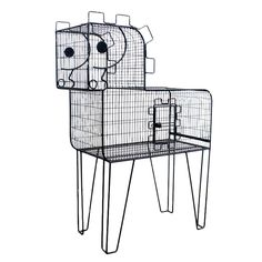 Pony Bird Cage by Frederic Weinberg  USA  1950's  Whimsical pony shaped bird cage by Frederic Weinberg.