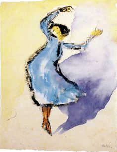 Dancer (bright blue) Emil Nolde - circa 1910