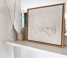 ORIGINAL Textured Canvas Art, Diy Canvas Art, Canvas Ideas, Minimalist Home Decor, Minimalist Art, Diy Plaster, Art Deco, Contemporary Frames, Learn Art