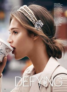 focalized: Anais Pouliot for Allure Magazine Feb 2015