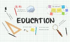 Prezi Template with an education concept.  Various school-related objects on a 3D graph paper background.  Tell your viewers a story about education and illustrate it with the concepts of sharp pencils, research, facts, correcting errors doing precise calculations or add your own ideas.  All elements are separated, you can move them around and create a unique concept and change the background.