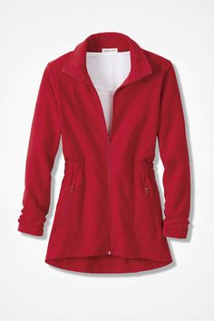 Shaped French Terry Jacket - Coldwater Creek