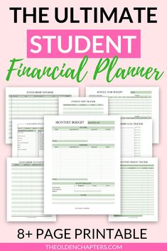 The best printable student financial planner – Earn College Scholarships College Student Budget, Scholarships For College, College Planning, College Tips, College Students, Monthly Budget, Budget Planner, Sample Budget, Budget Help