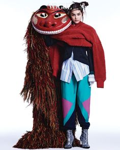 Yoo Young Kyu – Korean mask editorial for Vogue Korea, 2017 Korean Fashion Trends, Korea Fashion, China Fashion, Fashion Art, Editorial Fashion, Fashion Models, Fashion Outfits, Fashion Tips, Fashion Design