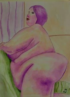 """""""La Gitane - Fière, Grosse et Belle"""", 770mm x 570mm, 25/01/18"""
