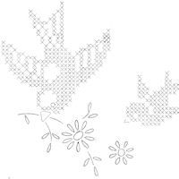 cute birds cross stitch patterns, be amazing on crocheted squares in silk threads. Roses and birds on any white square, oh the possibilities xox