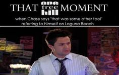 """Stephen Coletti was actually on Laguna Beach before playing Chase on One Tree Hill. While discussing Nick Lachey, Julian mistakenly says that Nick starred on the show Laguna Beach. Chase then replies that it was """"some other tool."""" Stephen Colletti (Chase) actually starred in the first season of Laguna Beach. He also stared in Taylor Swift's """"White Horse"""" video. (Season 6 Episode 22)"""