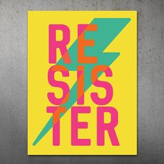 Resist Anti Trump Political March Printable Protest Sign Poster