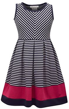 58fa58ee7fd Awesome Bonnie Jean Big Girl's Sleeveless Stripe Party Dress 2017 2018