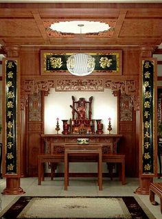Wooden Door Design, Wooden Doors, Zen Interiors, Chinese Interior, Home Altar, Chinese Furniture, Pooja Rooms, Ropes, Karaoke