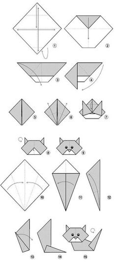 origami simple cat - 28 images - papieru origami kot grafika wektorowa 169 easy cat related keywords suggestions easy cat, origami how to make a cat puppet, origami cat easy origami for, easy origami cat kidspressmagazine Diy Origami, Gato Origami, Design Origami, Origami Paper Folding, Origami Yoda, Origami Star Box, Origami And Kirigami, Origami Fish, Useful Origami