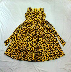 A beautiful little African Ankara dress for toddlers and kids. Available in 5 color options. Features * cotton * Back zipper * Comes with a head band Sizes Chart SIZE LENGTH CHEST WAIST HEIGHT (Shoulder to hem) 15 18 17 19 19 18 20 19 Baby African Clothes, African Dresses For Kids, African Wear Dresses, African Fashion Designers, African Girl, Latest African Fashion Dresses, Dresses Kids Girl, African Print Fashion, African Shop