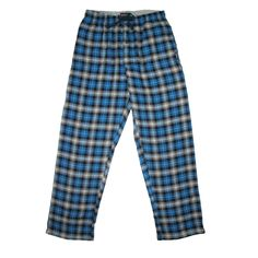 Made of 100% cotton flannel these pants feature side pockets and an elastic waistband with drawstring for a perfect fit. These classic plaid pants are ideal for both lounging and sleeping.