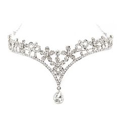 Silver Alloy Rhinestone And Pearl Flower Garden Forehead Jewelry – GBP £ 13.86
