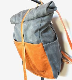 Highwayman Waxed Canvas Rolltop Backpack by Hunker Bag Co. on Scoutmob