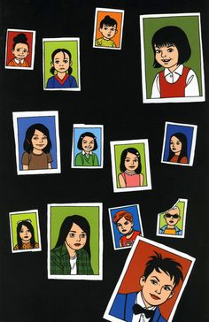 Love and Rockets vol. 2 issue 17 back cover by Jaime Hernandez