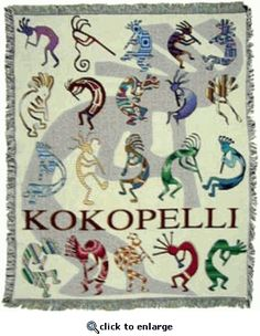 Multiple Kokopellis' for good luck! Kokopelli is an symbol that represents fertility & abundance. Going to find more kokopellis' for our home! :0)