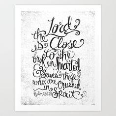 PSALM 34:18 Art Print by Matthew Taylor Wilson - $20.00