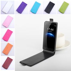 Fashion 9 Colors Vertical Leather Case for Doogee Homtom HT3 HT3 Pro Flip Back Cover Open Up and Down Magnetic Protective Shell