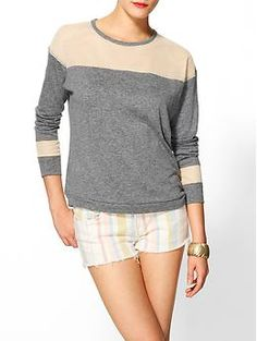 Isabel Lu Knit Mesh Top | Piperlime
