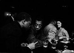 James Baldwin having a drink with his brother, David Baldwin, at a Broadway bar, 1965   ©1965