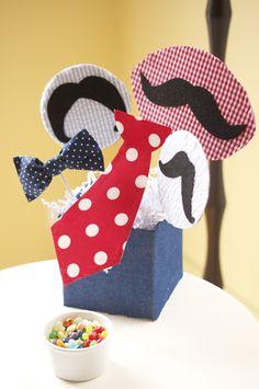 Mustache Bash centerpiece by @Mybirthdaybundle.com!