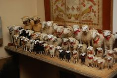 What a wonderful collection of early Putz sheep. A country girl cannot have too many!
