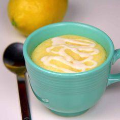 Triple Lemon Mug Cake (microwave) Mug Recipes, Lemon Recipes, Cake Recipes, Dessert Recipes, Cooking Recipes, Batch Cooking, Dessert Ideas, Sweet Recipes, Lemon Desserts