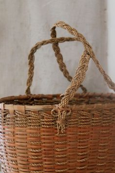 great subtle colors on a vintage basket.