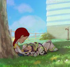 Jessie and Buzz - Toy Story Disney Pixar, Walt Disney Animation, Disney Toys, Disney Fan Art, Disney Fun, Disney And Dreamworks, Toy Story Frases, Desenho Toy Story, Jessie And Buzz