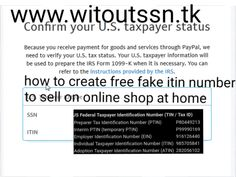 how to create free fake itin number to sell on online shop at home Fake Identity, Irs Forms, Internal Revenue Service, Name Generator, Apply Online, Goods And Services, Text You, Program Design
