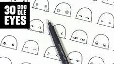 30 cute / kawaii doodle eyes | www.youtube.com/piccandle